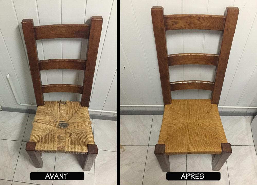Rempailleur de chaises, sièges et fauteuils dans le Hainaut