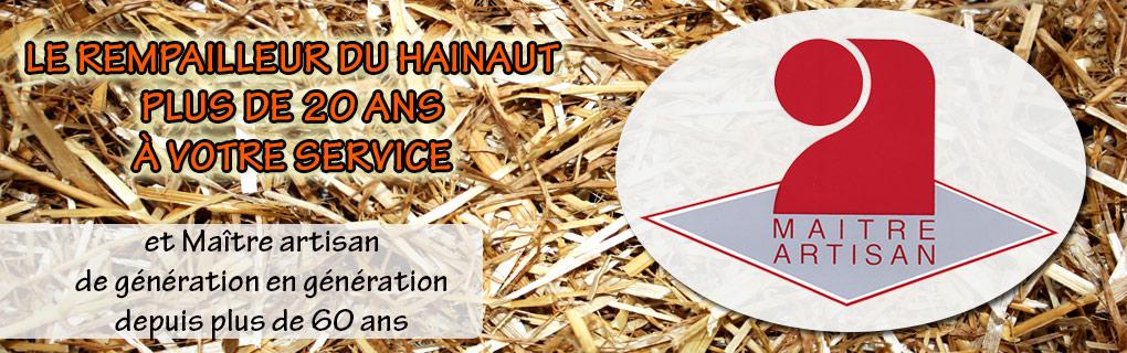 Rempailleur canneur dans le Hainaut