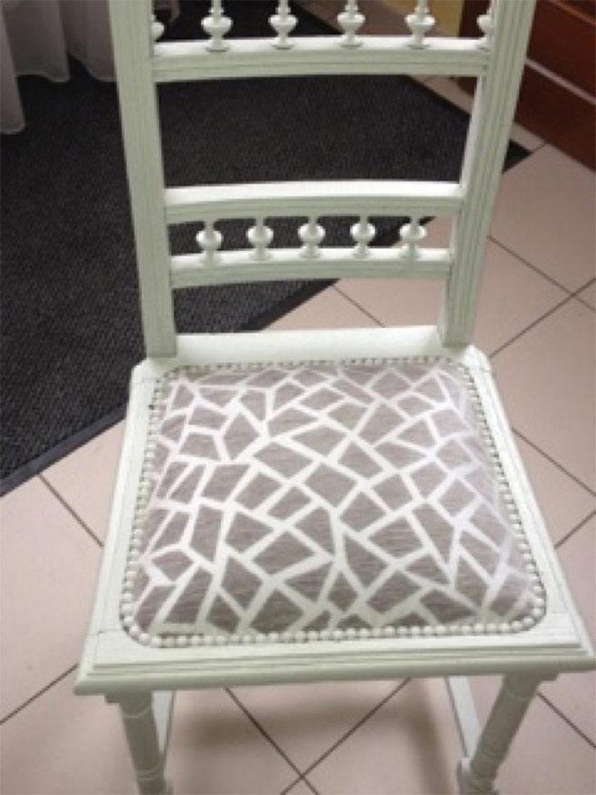 transformation de chaises abîmées dans le hainaut